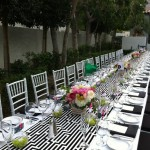 A modern, elegant tablescape. Long tables can be so regal.
