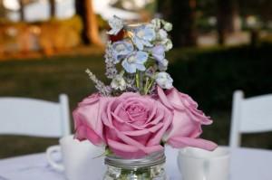 A simple centerpiece from Palm Springs Florist My Little Flower Shop