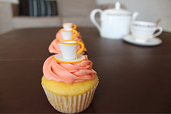 Teacup Cupcake Toppers for Bridal Shower