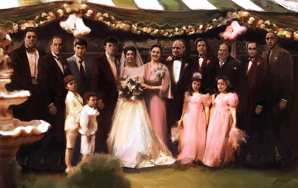 Wedding Movie Of The Week Legendary Mafia Drama The Godfather - Godfather Wedding Cake
